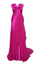 Dina Bar El Fuschia Gown6 Pink Hire Prom Dresses   Colour Moment