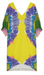 Tibi patterned silk dress1 Online Designer Dress Hire   Rent Designer Dresses: Royal Ascot Dresses