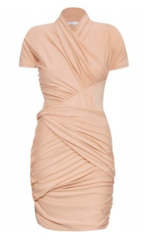 Carven drape detail apricot dress Girls on Dresses  Abisola, aka Abimarvel, on the Objects of her Dress (Hire) Desires, & Dresses of Eras Past