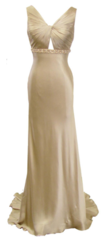 Dina Bar El Gold Silk Gown A Designer Ball Dress for the Duchess!