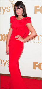 Lea Michele1 143x300 The Week in Dresses: Ladies in Red Dresses Glam Up the Red Carpet