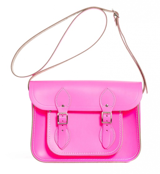 WIN Cambridge Satchel Company Pink Fluro at Girl Meets Dress WIN Cambridge Satchel's Fluoro PINK bag