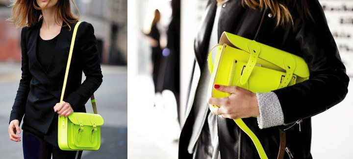 WIN Cambridge Satchel Company Pink Fluro at Girl Meets Dress1 WIN Cambridge Satchel's Fluoro PINK bag
